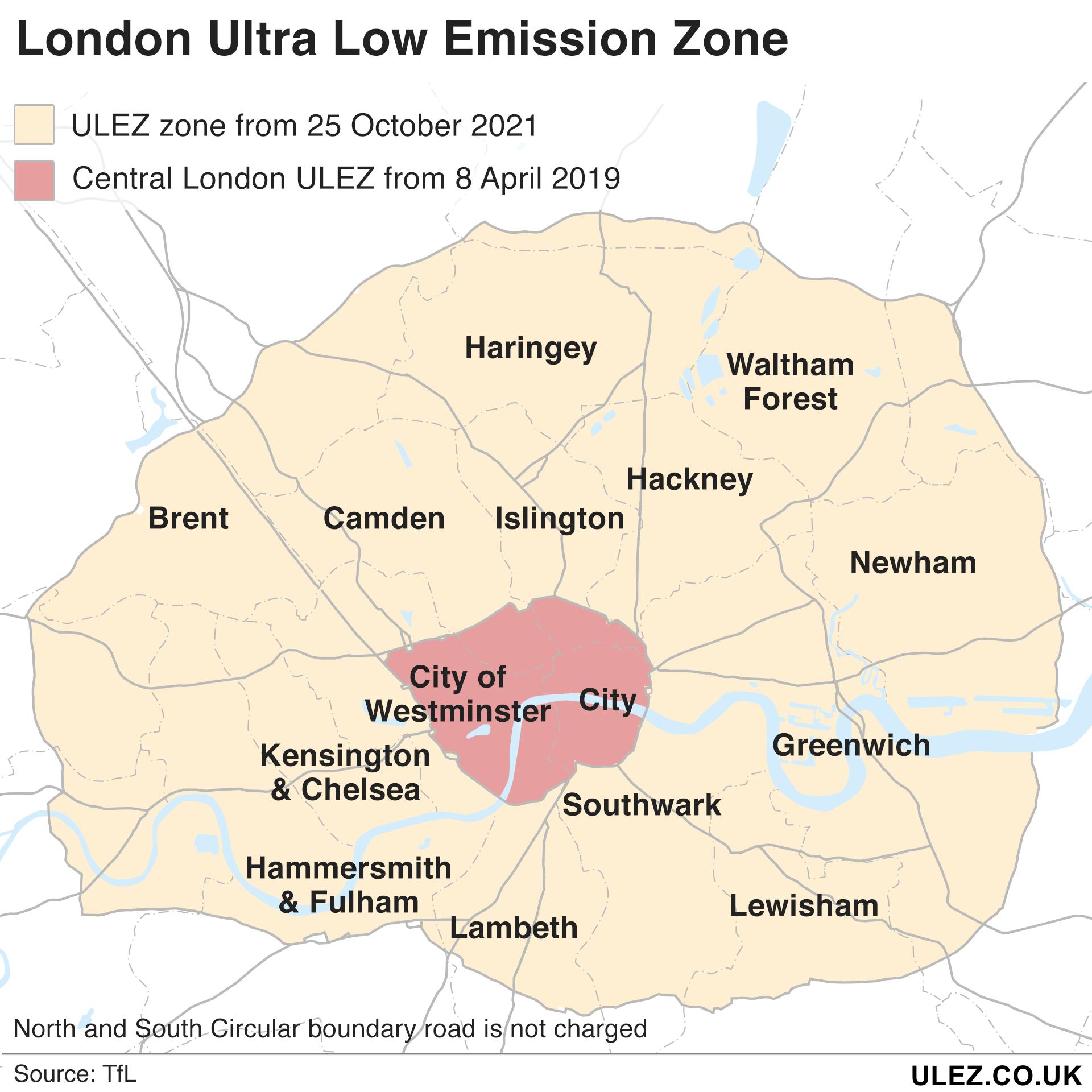 London ULEZ October 25th 2021